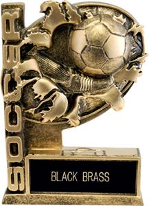 "Hasty Awards 6"" Bust-Out Soccer Resin Awards"