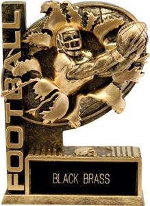 "Hasty Awards 6"" Bust-Out Football Resin Awards"