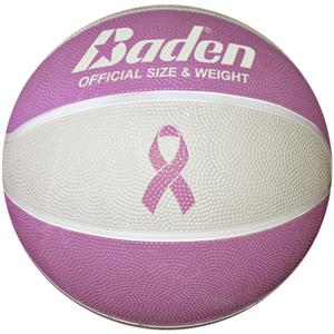 "Baden NBCF 28.5"" Pink Ribbon Basketball"