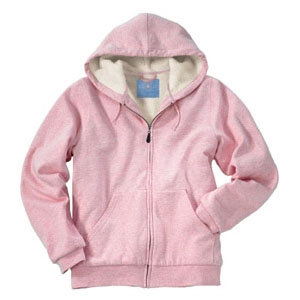 Pink Sherpa Hooded Sweatshirt - Cancer Awareness