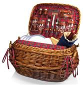 Picnic Time Highlander Willow Tartan Picnic Basket