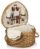 Picnic Time Handcrafted Heart Basket