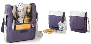 Picnic Time Tivoli Insulated Two-Bottle Wine Tote