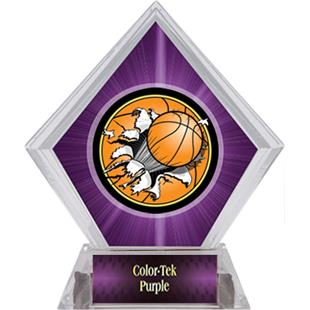 Bust-Out Basketball Purple Diamond Ice Trophy