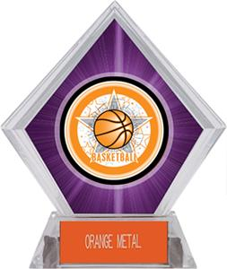 All-Star Basketball Purple Diamond Ice Trophy