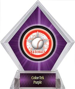 Awards All-Star Baseball Purple Diamond Ice Trophy