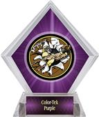 Awards Bust-Out Football Purple Diamond Ice Trophy