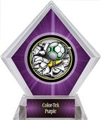 Awards Bust-Out Soccer Purple Diamond Ice Trophy