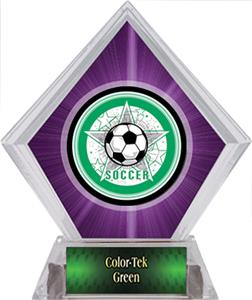 Awards All-Star Soccer Purple Diamond Ice Trophy