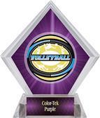 Award Classic Volleyball Purple Diamond Ice Trophy