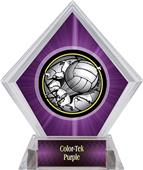 Bust-Out Volleyball Purple Diamond Ice Trophy