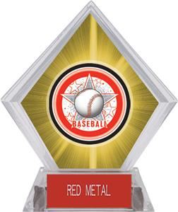 Awards All-Star Baseball Yellow Diamond Ice Trophy