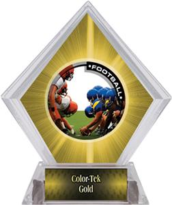 Awards PR1 Football Yellow Diamond Ice Trophy