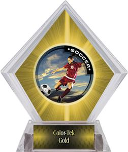 P.R. Female Soccer Yellow Diamond Ice Trophy