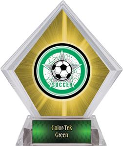 Awards All-Star Soccer Yellow Diamond Ice Trophy