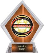 Awards Classic Baseball Orange Diamond Ice Trophy