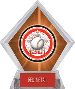 Awards All-Star Baseball Orange Diamond Ice Trophy