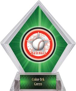 Awards All-Star Baseball Green Diamond Ice Trophy