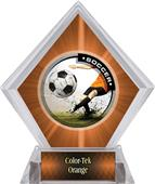 Awards P.R. Male Soccer Orange Diamond Ice Trophy