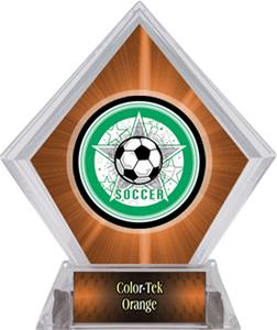 Awards All-Star Soccer Orange Diamond Ice Trophy