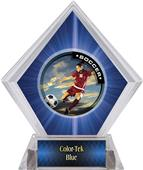 P.R. Female Soccer Blue Diamond Ice Trophy