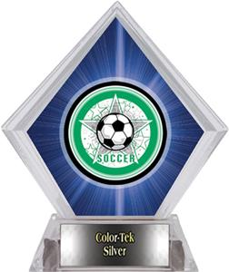 Awards All-Star Soccer Blue Diamond Ice Trophy
