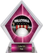 Award Patriot Volleyball Pink Diamond Ice Trophy