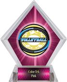 Award Classic Volleyball Pink Diamond Ice Trophy