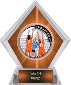 Awards PR2 Volleyball Orange Diamond Ice Trophy