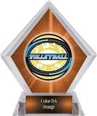 Award Classic Volleyball Orange Diamond Ice Trophy