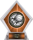 Bust-Out Volleyball Orange Diamond Ice Trophy