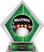 Award Patriot Volleyball Green Diamond Ice Trophy