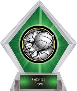 Bust-Out Volleyball Green Diamond Ice Trophy