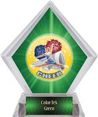 Hasty Awards HD Cheer Green Diamond Ice Trophy
