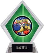 Awards Americana Cheer Green Diamond Ice Trophy
