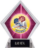 Hasty Awards HD Cheer Pink Diamond Ice Trophy