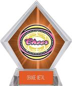Awards Classic Cheer Orange Diamond Ice Trophy