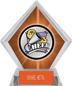 Hasty Award Xtreme Cheer Orange Diamond Ice Trophy