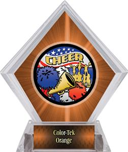 Awards Americana Cheer Orange Diamond Ice Trophy