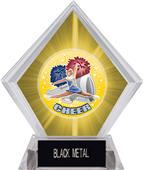Hasty Awards HD Cheer Yellow Diamond Ice Trophy