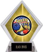 Awards Americana Cheer Yellow Diamond Ice Trophy
