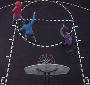 Jaypro Basketball Court Stencil