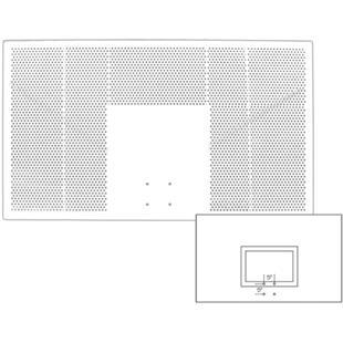 "42""x72"" Rectangular Aluminum Basketball Backboard"
