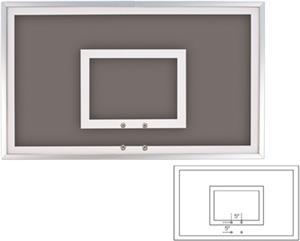 """36""""x60"""" Smoked Glass Basketball Backboard FT221SM"""