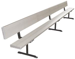 First Team Portable Aluminum Bench With Backrest