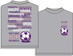 Utopia Soccer Thats What Girls Are Made Of T-shirt