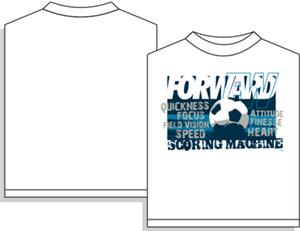 Utopia Soccer Scoring Machine Forward T-shirt