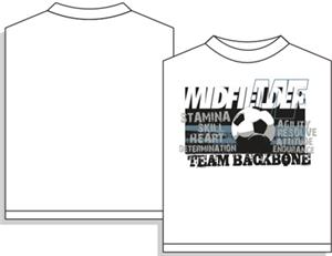 Utopia Soccer Team Backbone Midfielder T-shirt