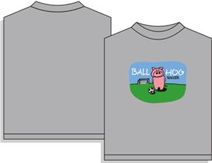 Utopia Soccer Ball Hog Short Sleeve T-shirt