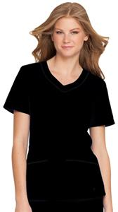 Landau Misses/Womens Rounded Vneck Tunic Scrub Top